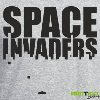 Space Invaders Text T-shirt